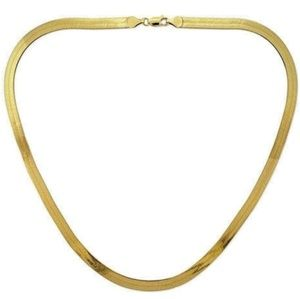 Jewelry - NWOT 14k Yellow Gold plated Herringbone Necklace
